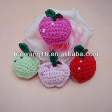 wholesale hand cotton crochet flower apple applique