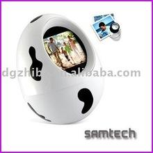 egg shape 1.5 inch /2.4inch-3.5inch Digital photo frame,digital photo frame with keychain ,good idea for promotion