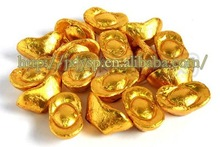 Gold Chocolate Yuanbao-sweet dark chocolate food and China manufacturer