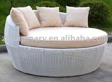 pe rattan wicker outdoor garden round bed