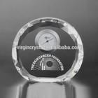 Olivary Shape Crystal Desk Clock Awards Timepiece /Promotional Clock