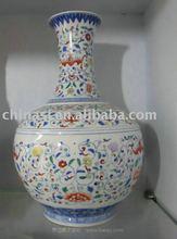 Chinese Qing dynasty floral porcelain Vase WRYAS100