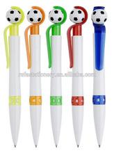 cheap football pen with slogan clip