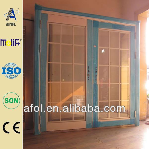 Núcleo sólido de la puerta de acero coloque la ventana
