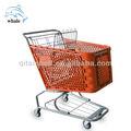 De China de plástico carro de compras carro de fábrica