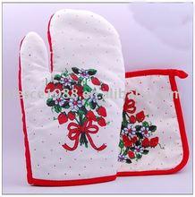 Fashionable flower printed heat resistant pot holder
