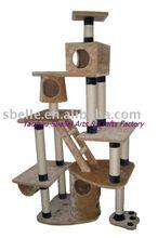 Cat furniture of cat scratcher post and cat tree