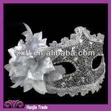 Beauty Design Silver Color Romantic Wedding Party Mask