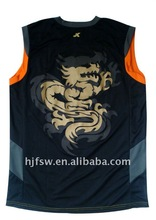 Sublimated basketball jersey and shorts