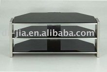MDF and black glass TV Stand