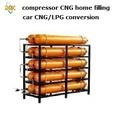 Cng folha tanque 60L 80L 100L 120L typeI II natural compressor de gás refrigerado a água de segurança