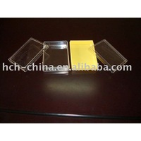 PVC Transparent Card Box Plastic Playing Card Case