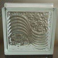 Sea wave clear decorative glass block
