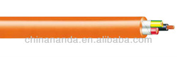 PVC orange circular power cable