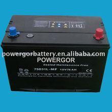 Maintenance Free automotive battery 75D31L-MF