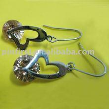 sterling earrings jewelry fashion Heart pattern