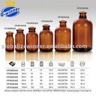 Amber Molded Injection Vials for Antibiotics ,pharmaceutical glass bottle