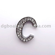 30mm slide letter with rhinestones