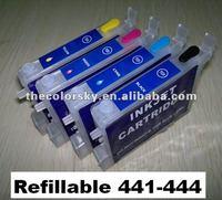 (RCE431-441-454) refillable refill ink cartridge for Epson T0431 T0441 - T0444/T0451 - T0454 CX6600/CX4600/C64/C66 BK/C/M/Y