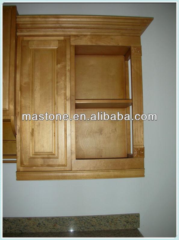 émaillée, coin de mur de cuisine en bois de conception