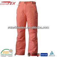 Lady's ski pants for running