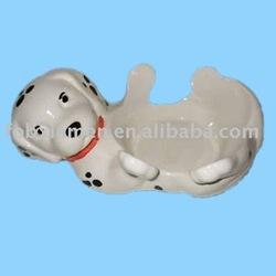 Novelty dog shape ceramic dog bowl wholesale