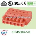 Pcb 5.0mm pá elétrica plug no conector do bloco terminal fêmea com fechamento kfm500k-5.0