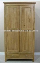 China 2 door+2 drawer solid oak wardrobe/carbinet bedroom furniture