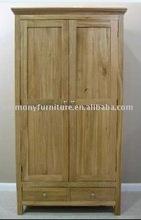 China 2 door+2 drawer solid oak wardrobe/carbinet bedroom furniture
