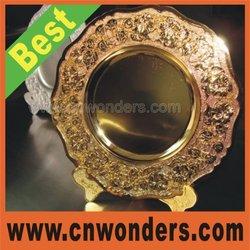 Blank Beautiful gold color souvenir plate