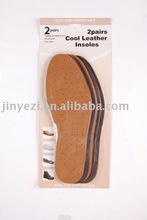Full length genuine leather and latex insole for shoes