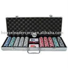 500 Poker Set in Silver Aluminum Case w/ YIN YANG Chips