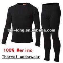 100% merino thermal underwear of men long johns
