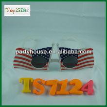 2012 Hot Sale Plastic USA Flag Sunglasses