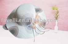 2012 Fashion Ladies 100%Nature Linen Summer Fancy Hats