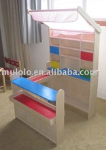 wooden toys Mini super market to paly sell and buy game little canteen/buffet