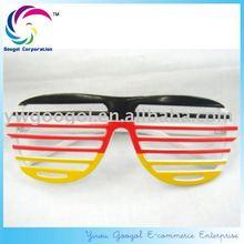 Hot Sell German Flag Shutter Party Glasses Blinds Football Fans Glasses