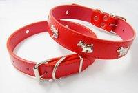 fashion adjustable pet collar have metal animal