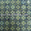 impressão de flores de cerâmica em mosaico
