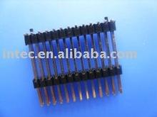 2.54mm pin header dual row dual housing straight type