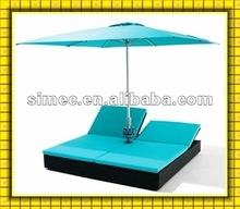 wicker PE rattan and aluminum beach furniture