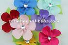 5 flower petals design hair bows with alligator clip