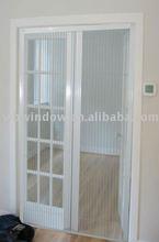 pvc sliding toilet door, high quality pvc sliding door