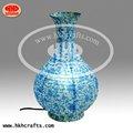 chino tradicional estilo de azul y blanco porcelana florero de papel la forma de la lámpara de mesa
