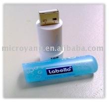 Lipstick 8GB USB 2.0 Flash Drive Stick Pen w/ Key Chain