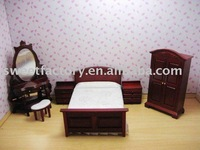 Dolls house mini child furniture- bedroom set