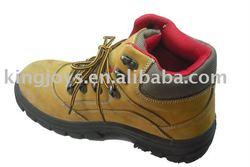 Nubuck Leather Safety Boot Steel Toe Cap, Steel Midsole Plate,