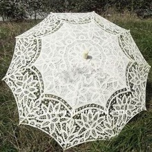 FIRST-HAND FACTORY SUPPLY/handmade lace wedding parasol white