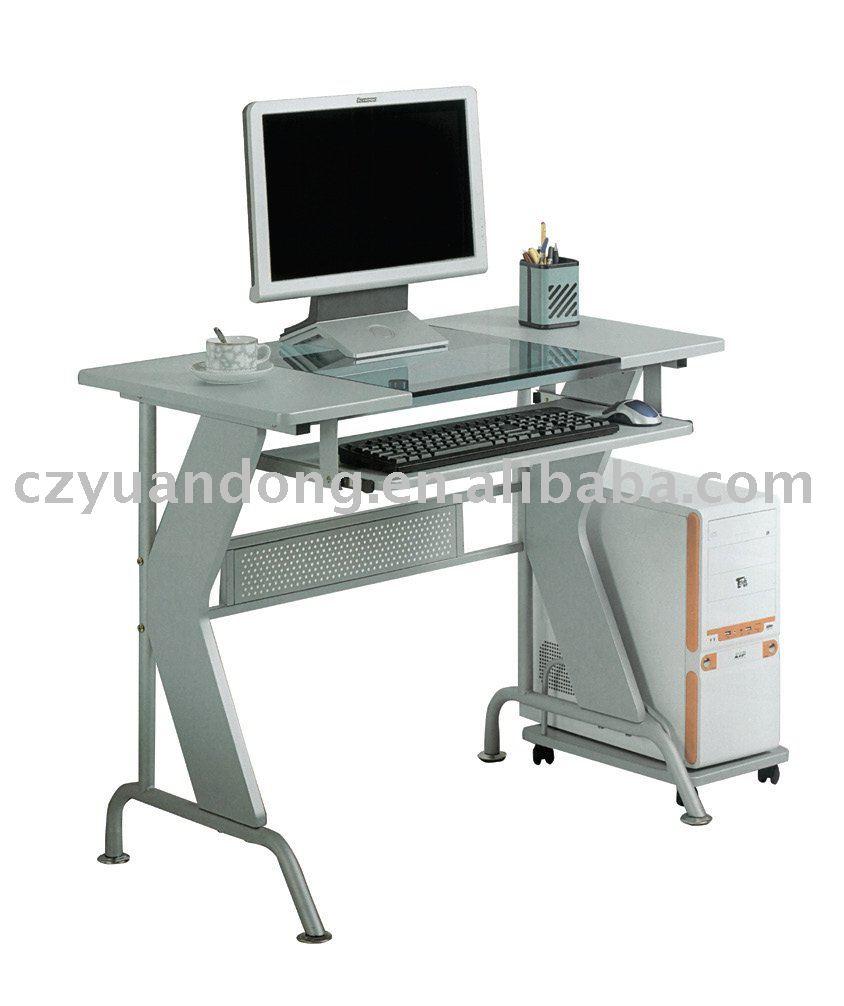 Bureau d 39 ordinateur de bureau tables en verre id du for Meuble d ordinateur bureau en gros