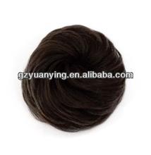 Fashionable dark brown Synthetic fake hair bun pieces